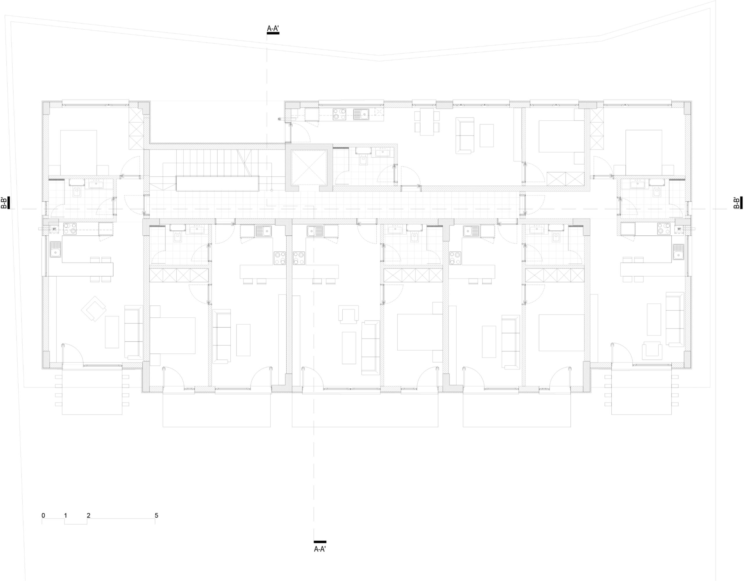 Plan etaj 1, 2, 3 și 4