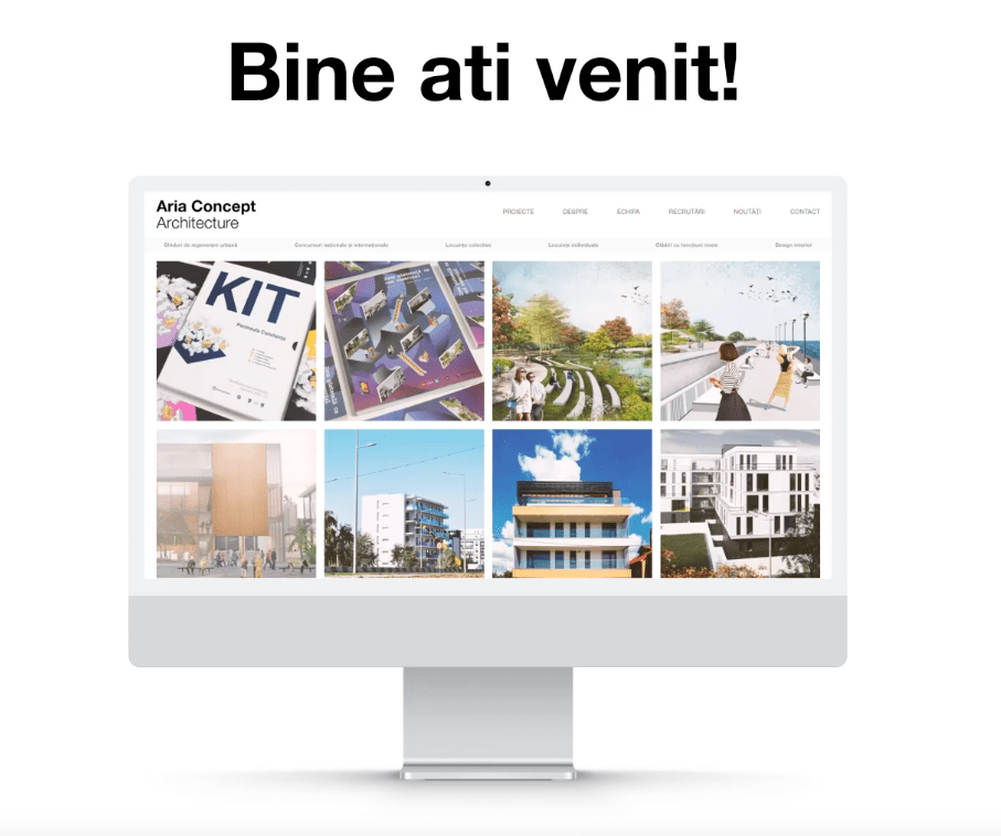 Noul site Aria Concept Architecture